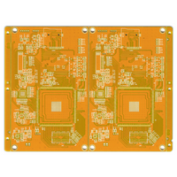 LHDPCB supplier provide Master control Security PCB with yellow solder mask